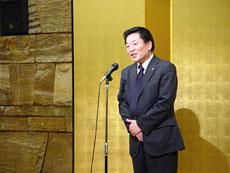 毎年恒例の平田副会長の閉会挨拶